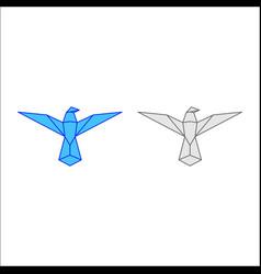bird logo origami styled origami bird vector image
