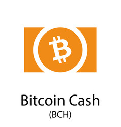 Bitcoin cash cryptocurrency symbol vector