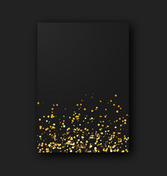 black poster on black background vector image