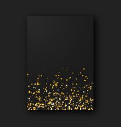 Black poster on black background vector