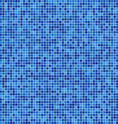 Blue pixel mosaic background vector