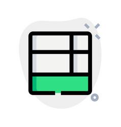 Bottom grid layout multiple section tile bar vector