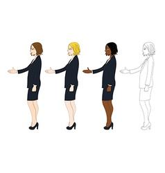 Business Woman Hand Shake vector image