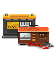 Car Battery Charge Concept vector image