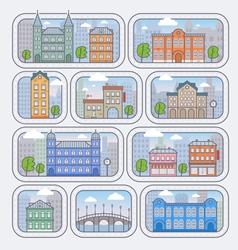 City building vector image