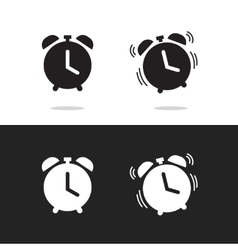 Clock alarm icon isolated on white vector