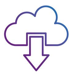 cloud computing with arrow download vector image