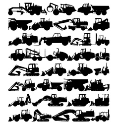 Construction equipment vector image