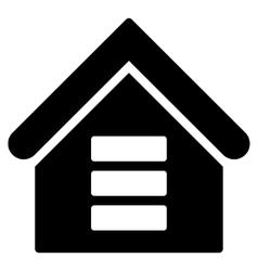 Data Center Building Flat Icon vector