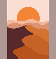 desert landscape in a vertical format warm beige vector image