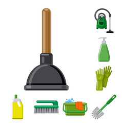 Design of cleaning and service logo vector