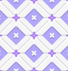Diagonal purple floristic in frame pattern vector