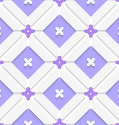 Diagonal purple floristic in frame pattern vector image