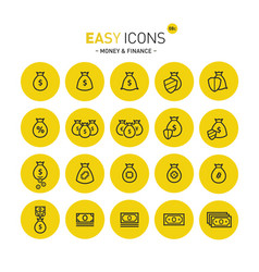 Easy icons 08c money vector