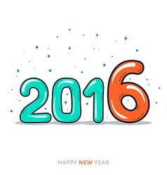 Festive doodle design of a card banner New year vector image