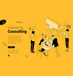 financial and marketing consulting vector image