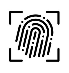fingerprint dactylogram scanner sign icon vector image