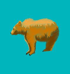 Flat shading style icon bear vector