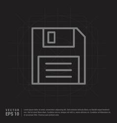floppy diskette icon - black creative background vector image