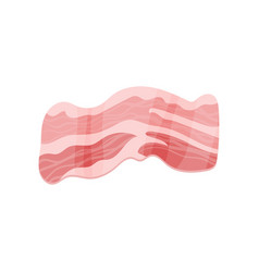 Fresh bacon meat product cartoon vector