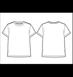 front and back view of a men t-shirt vector image