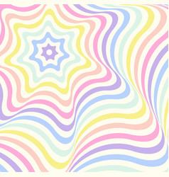 geometric striped background pastel rainbow vector image
