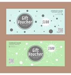 Gift voucher template eps10 format vector