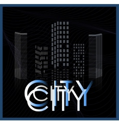 Graphical urban cityscape vector