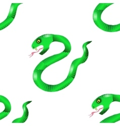 Green Snake Seamless Background vector image