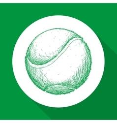 Hand draw tennis balle vector image