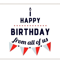 Happy Birthday Label With Flags vector