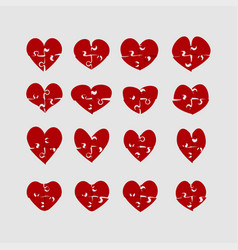 hearts puzzle love jigsaw love logotype puzzle vector image