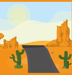 Highway on the desert vector