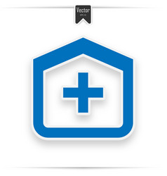 hospitalblue icon design vector image
