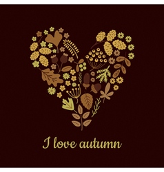 I love autumn vector
