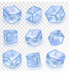 Ice cubes isolated frost vector