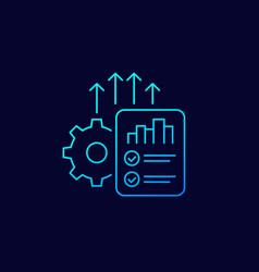 Increase productivity linear icon vector