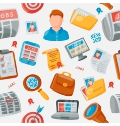 Job search icons pattern vector image
