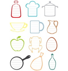 Kitchen note vector