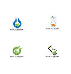 lab logo icon template vector image