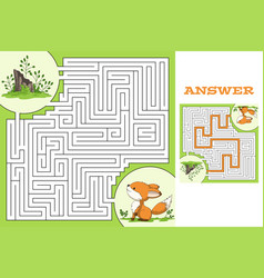 Maze game puzzle vector