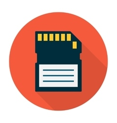 Memory card icon flat vector