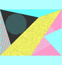 Memphis geometric pattern vector