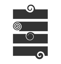 modern label template with swirl design element vector image