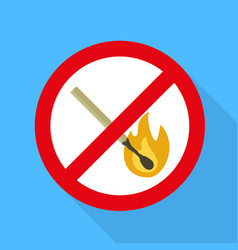 no fire sign icon flat style vector image