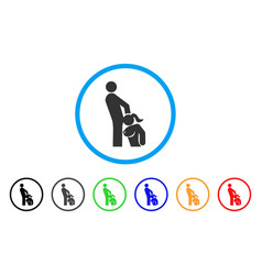 Oral sex persons rounded icon vector
