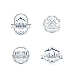 outdoor activities logo set vector image