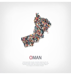 People map country Oman vector