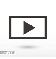 player flat icon sign video player vector image