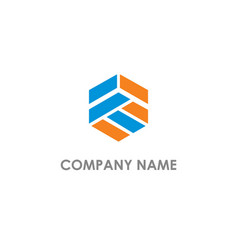 polygon shape company logo vector image